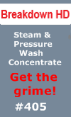 JacksonCo Supply sells Breakdown HD which is a steam and pressure wash concentrate